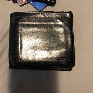 Men's coach water buffalo wallet